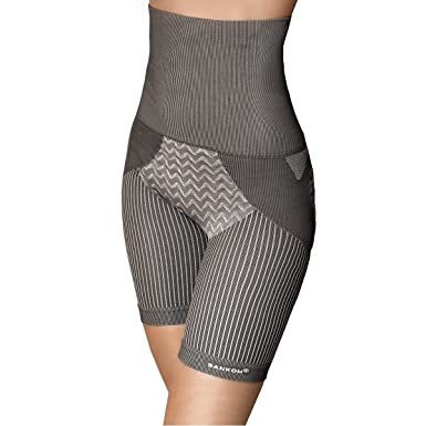 8ca9643eb03 SANKOM Grey Thigh Slimming Tummy Waist Control Posture Shaper Shapewear  with Bamboo Fibers XS (Hypoallergenic