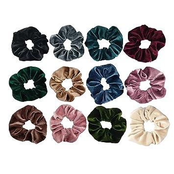 Modern Print Hair Scrunchies Peach White Hair Scrunchies with Orange Gray and Peach Colored Cotton Hair Scrunchies and Black Print Gray