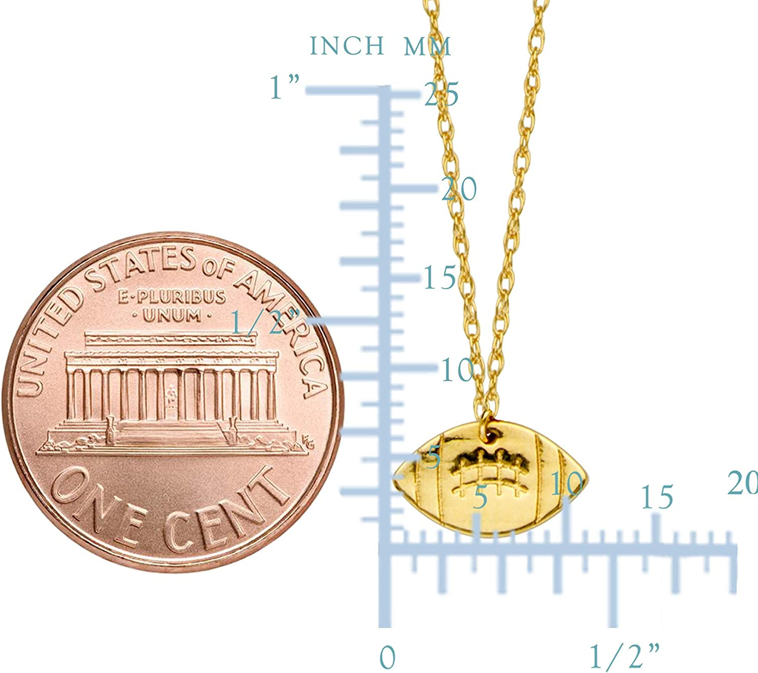 14K Yellow Gold Italian Maniac Pendant on an Adjustable 14K Yellow Gold Chain Necklace