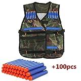 Niños para niños Elite chaleco táctico con 100unidades bala azul para pistola Nerf N-Strike Elite Series (Camouflage)