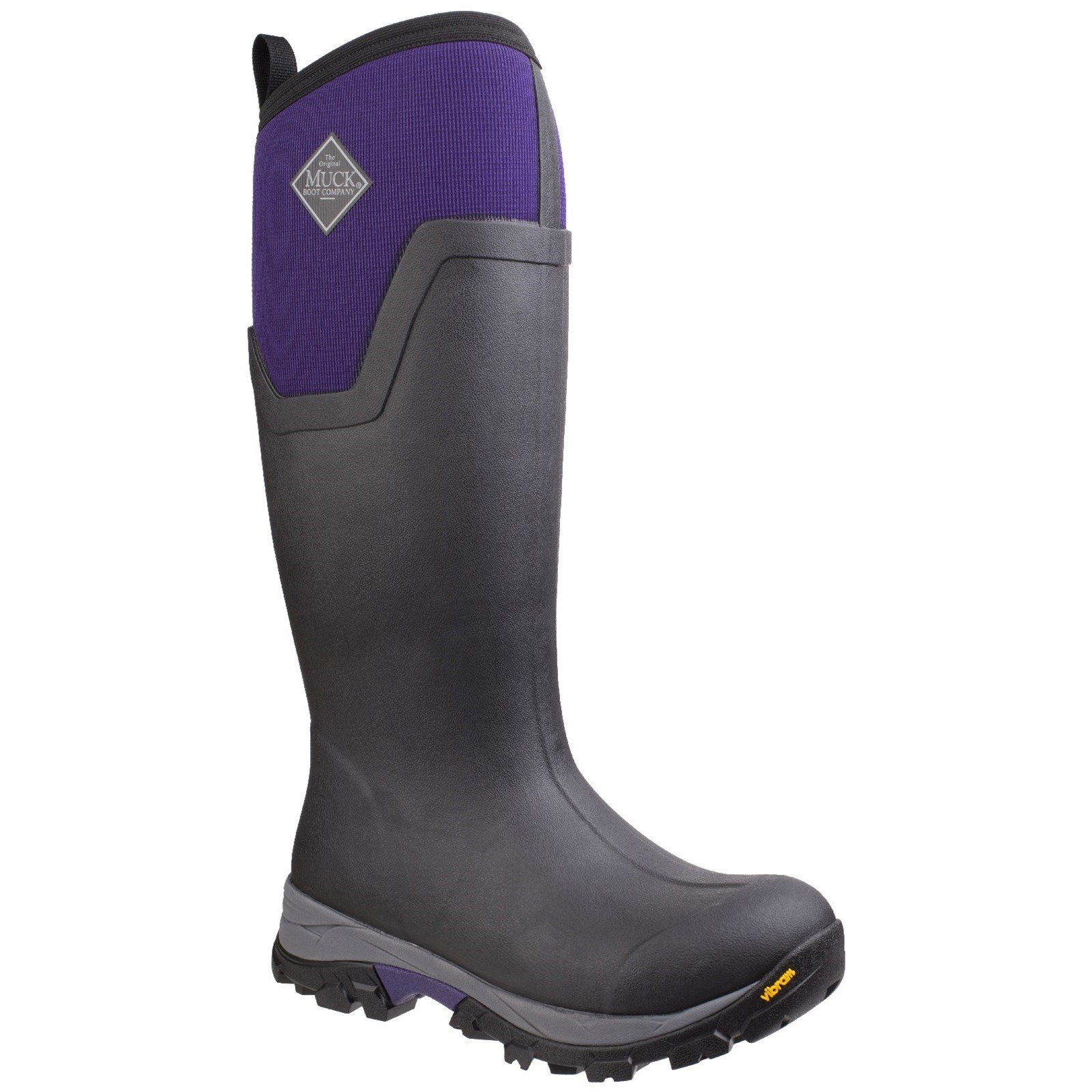Muck Boot Womens/Ladies Arctic Ice Tall Extreme Condition Rain Boots (9 US, Black/Parachute Purple) by Muck Boot