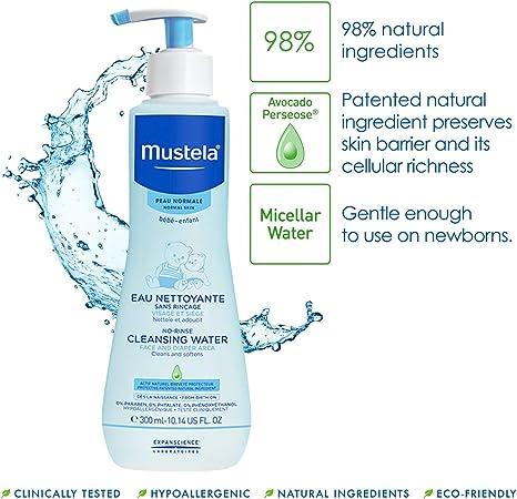 Mustela PhysiObebe Líquido de limpieza sin enjuague: Amazon.es: Belleza