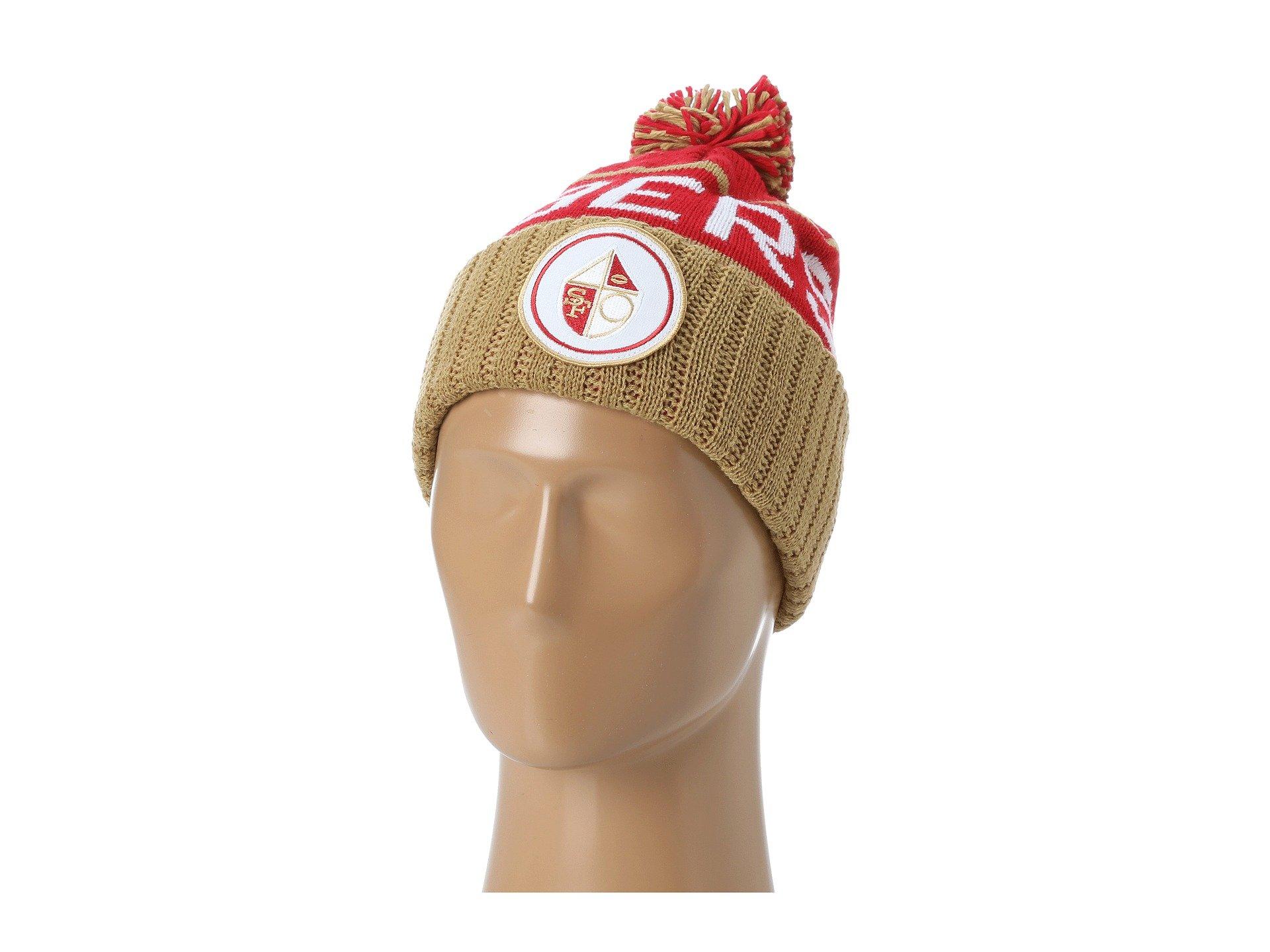 Mitchell & Ness San Francisco 49ers Vintage Cuffed Pom Knit Cap/Beanie by Mitchell & Ness
