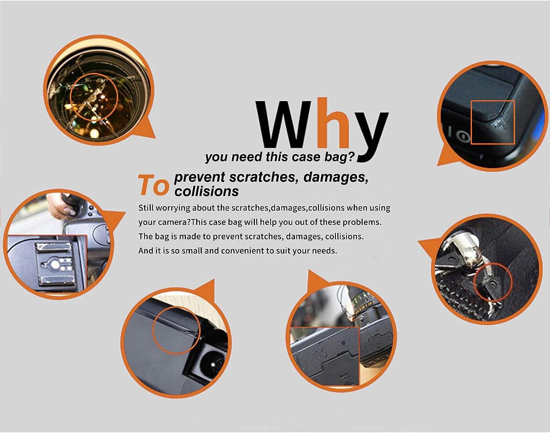 Medium Size ARCHE DSLR Neoprene Camera Bag Camera Case Sleeve for Nikon D40 D50 D60 D600 D3100 D3200 D5100 D5200 D5500 with Camera Body+18-55mm//18-105mm Lens