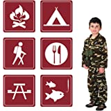 Jumbo Camping Sign Cutouts for Parties and School Events