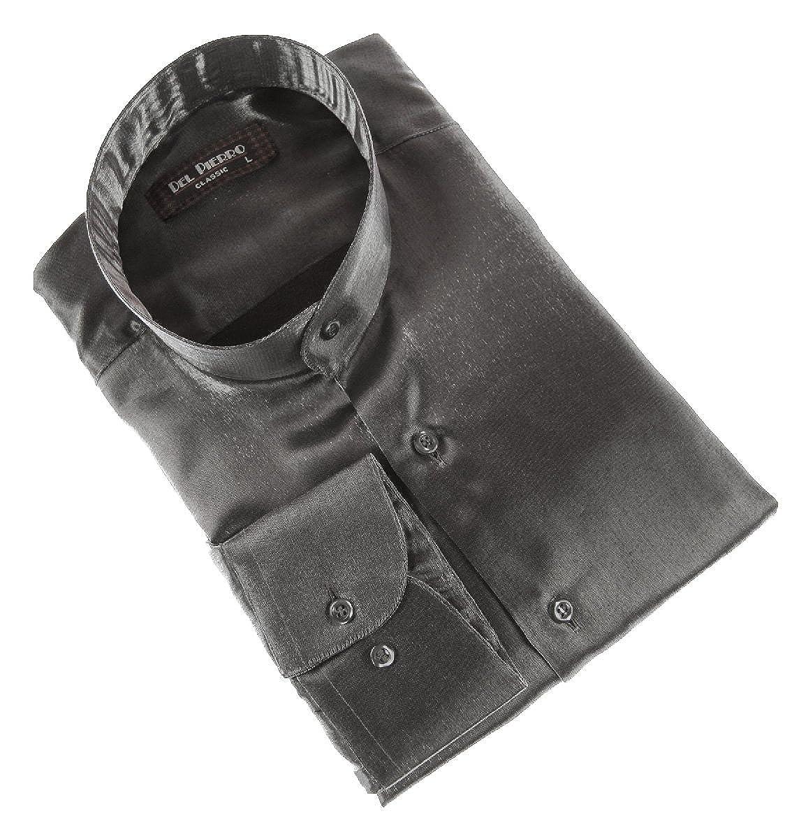 Designer Herren Glanz Hemd Stehkragen Bügelfrei Herrenhemd Schwarz Weiß Rot  Blau Silber Satin Look Glanzhemd Stehkragenhemd  Amazon.de  Bekleidung 2f4f8c6f38