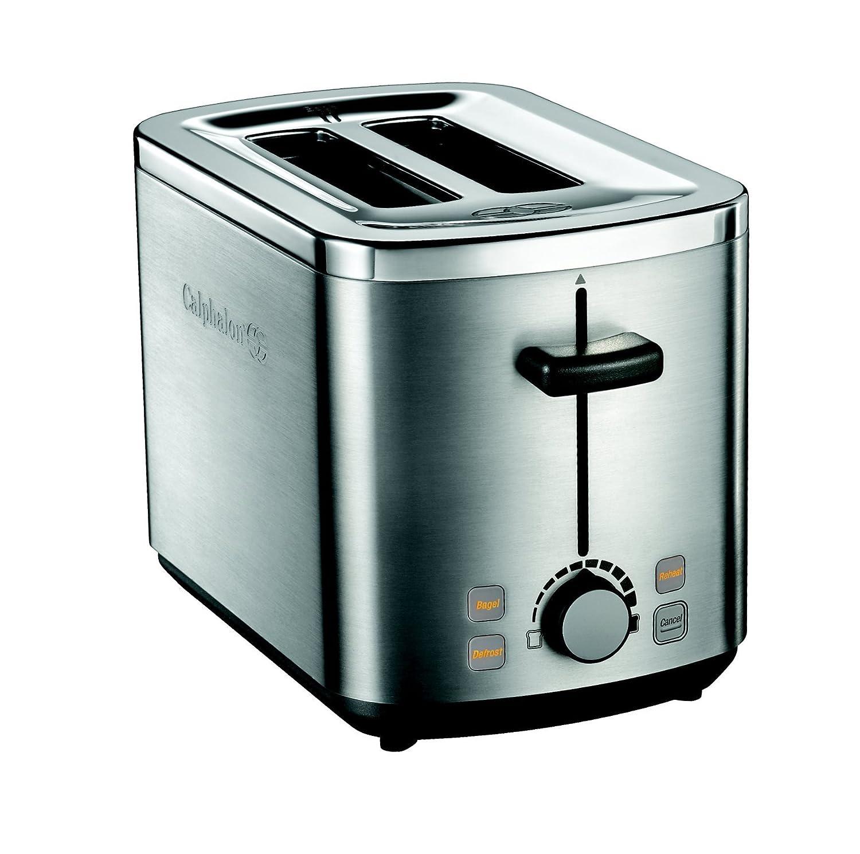 Amazon.com: Calphalon 2 Slot Stainless Steel Toaster: Kitchen & Dining