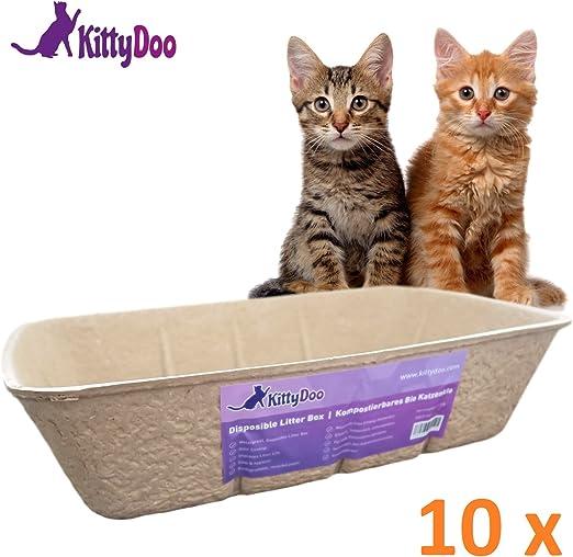 KittyDoo Arenero Gatos, Higiénica, Bandeja Sanitaria Desechable ...