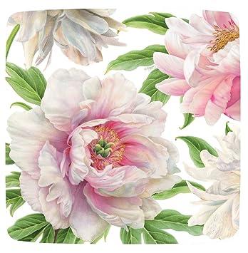 Amazon Caspari Square Party Paper Plates Pink Flowers Plates