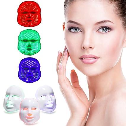 MINCHEDA Belleza Facial Cuidado de la piel cuidado de la cara máscara de belleza rejuvenecimiento fototerapia