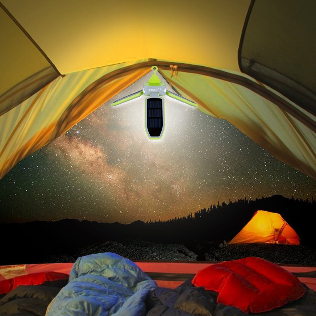 Solar Powered Lights For Camping & Easy Storage