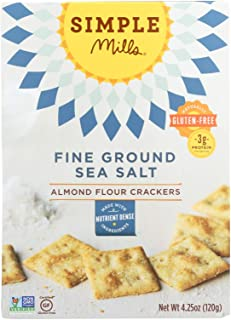 product image for Simple Mills Fine Ground Sea Salt Almond Flour Crackers - Case of 6 - 4.25 oz.