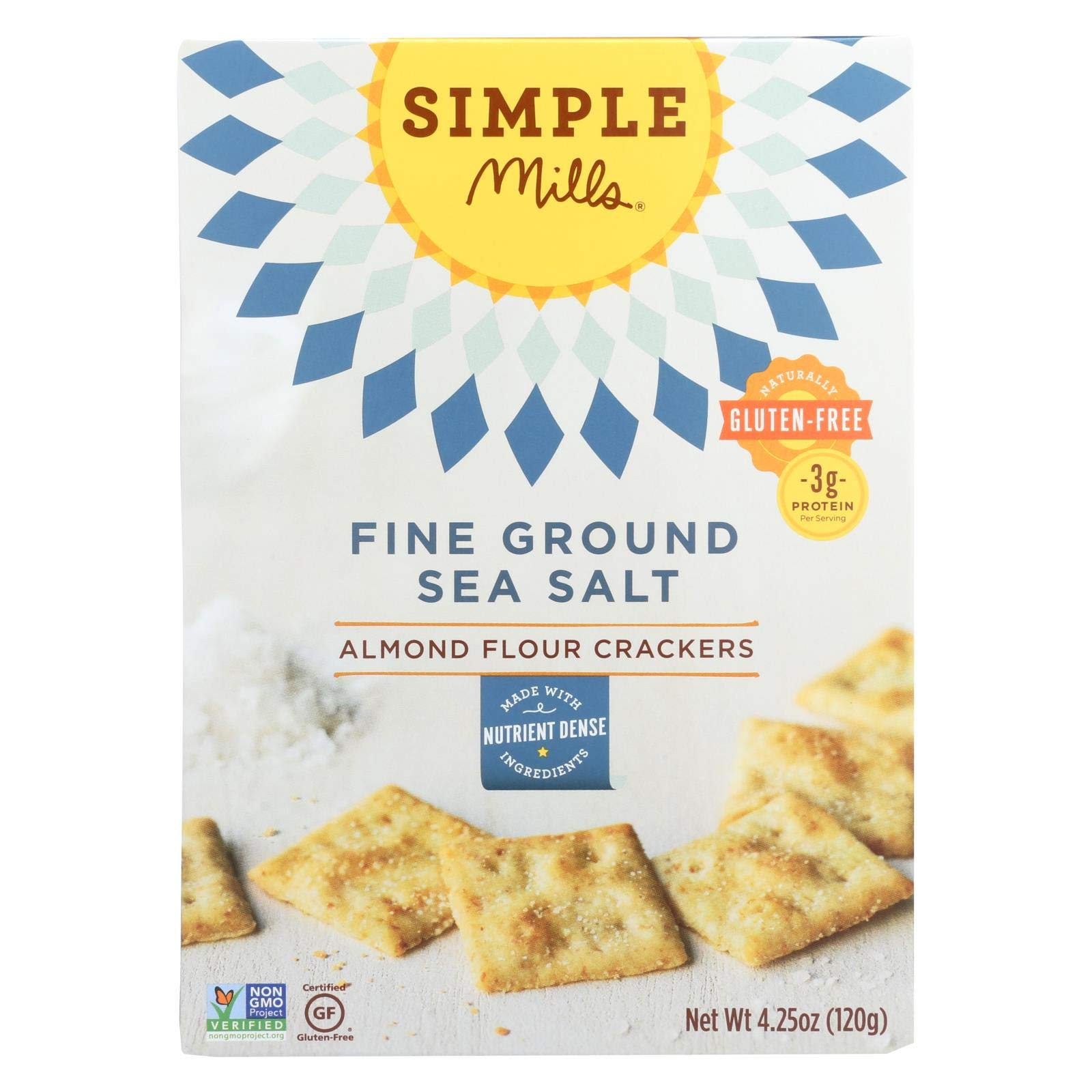Simple Mills Fine Ground Sea Salt Almond Flour Crackers - Case of 6 - 4.25 oz. by Simple Mills (Image #1)