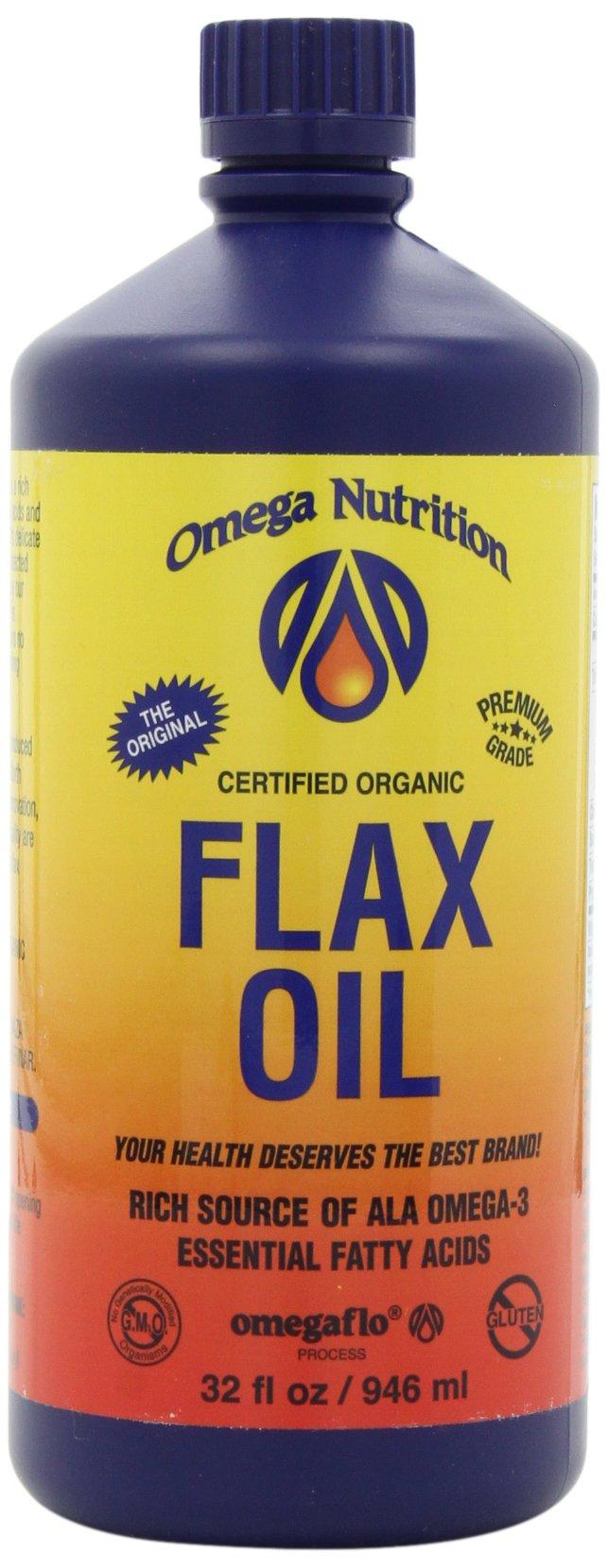 Omega Nutrition Flax Seed Oil, 32-Ounce