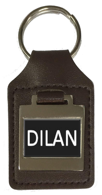Dilan Leather Keyring Birthday Name Optional Engraving
