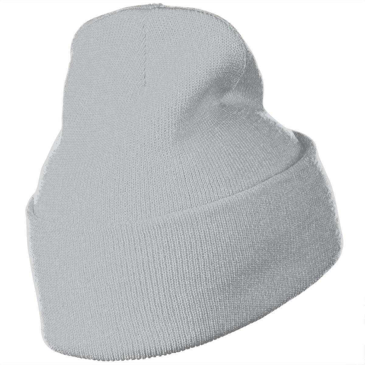 Purple Leaf Warm Knit Winter Solid Beanie Hat Unisex Skull Cap