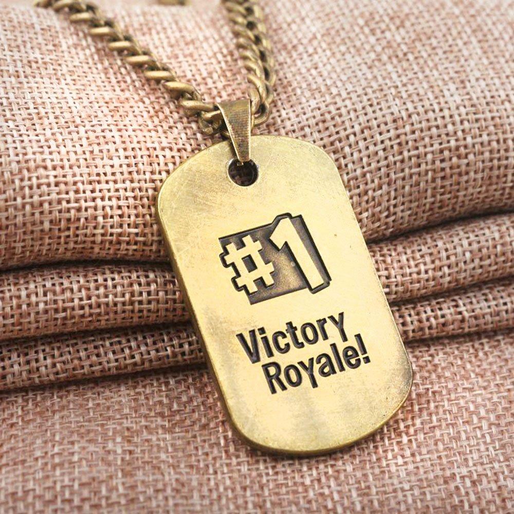 Dolovely Fortnite Logo Battle Royale Game Necklace Dog Tag Pendant Necklace by Dolovely (Image #3)