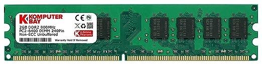 1094 opinioni per Komputerbay 2GB DDR2 800MHz PC2-6300 PC2-6400 DDR2 800 (240 PIN) DIMM Memoria