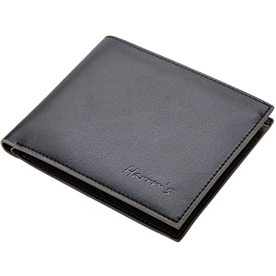 Harrms Mens Genuine Leather thin Bifold Wallets, Italian Cowhide