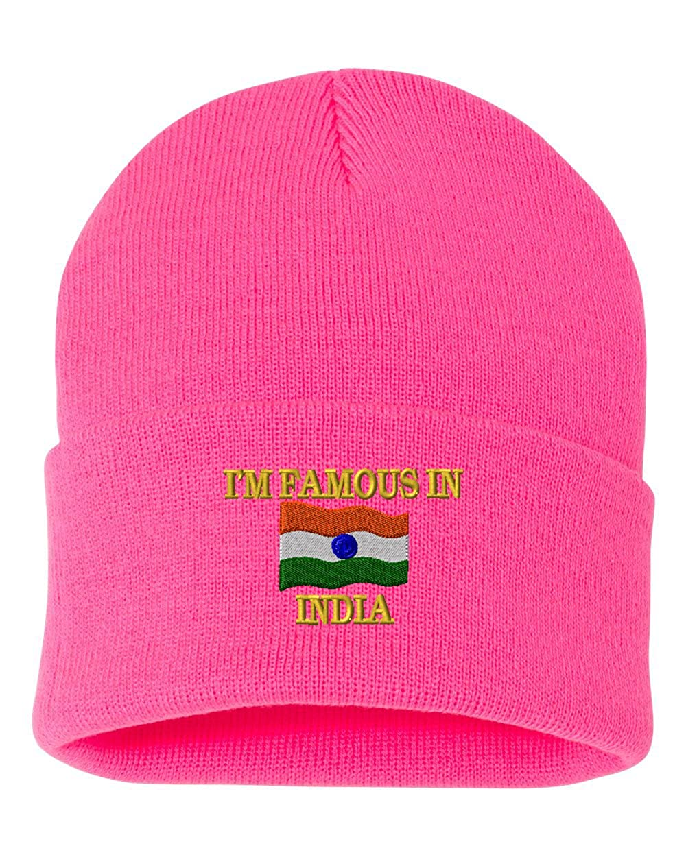 IM FAMOUS IN INDIA Custom Personalized Embroidery Embroidered Beanie