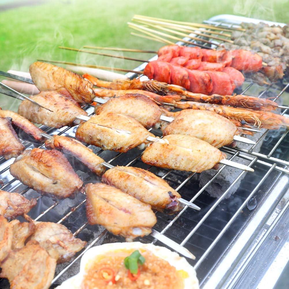 JKLJKL Acier Inoxydable Barbecue au Charbon Accueil Utilisation Ensemble Complet d'outils Thicken Carbone pierrade Poêle Shelf,Argent Silver