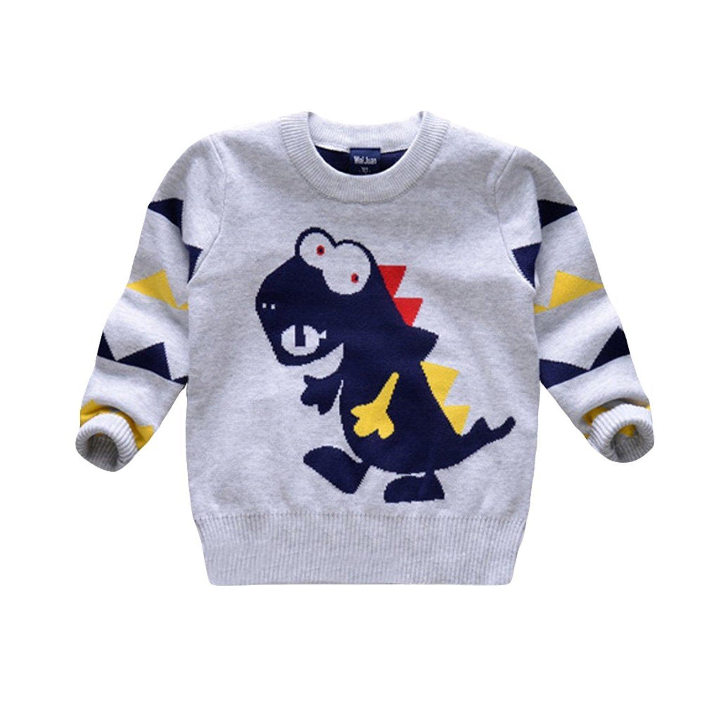 Garsumiss Girls Boys Jumpers Unisex Unicorn Knitwear Cute Dinasour Sweater Baby Pullover Cotton Sweatshirt GA70101