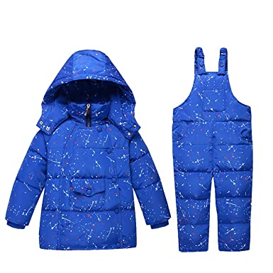 2e6bf326a Baby Boy Girl Down Snowsuit - Winter Warm 2 Pieces Toddler White Duck Down  Jacket and
