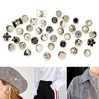 Random Style Decoration Lapel Pin Clothes Accessories Gifts 20 PCS Mixed Enamel Brooch Pins Bulk Set