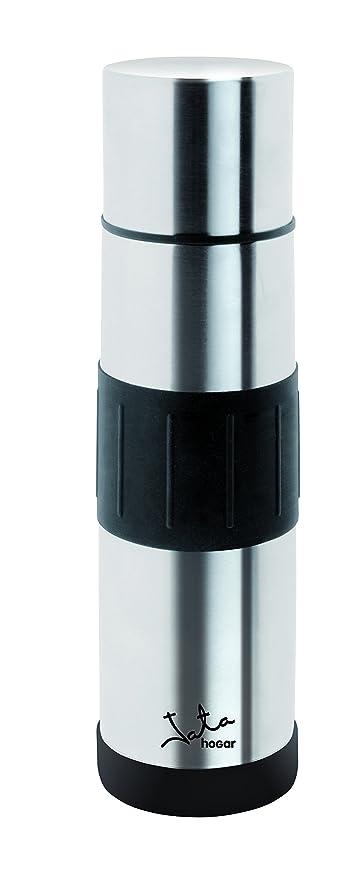 Jata Hogar 750 ml Termo, Acero Inoxidable, Plateado y Negro, 7.50 x 7.50 x 30.5 cm