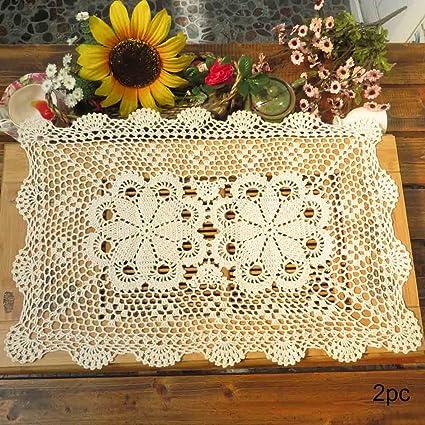 Amazon Kilofly Crochet Cotton Lace Table Placemats Doilies Set