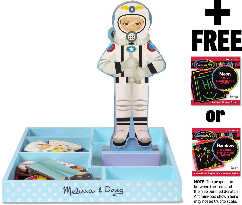 Melissa & Doug Julia: Magnetic Dress Up Doll & 1 Scratch Art Mini-Pad Bundle (05164)