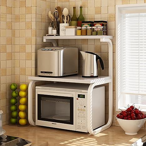 YMXLJF Estante de la Cocina, Horno Doble microondas Estante ...