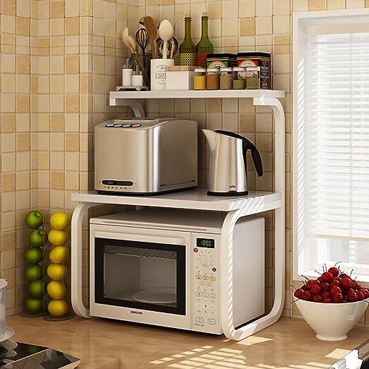 YMXLJF Estante de la Cocina, Horno Doble microondas Estante de ...