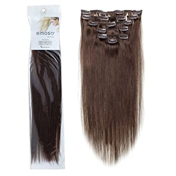 Amazon emosa 4 18 7pcs 70g remy clips in human hair emosa 4 18 7pcs 70g remy clips in human hair extensions 04 medium pmusecretfo Image collections