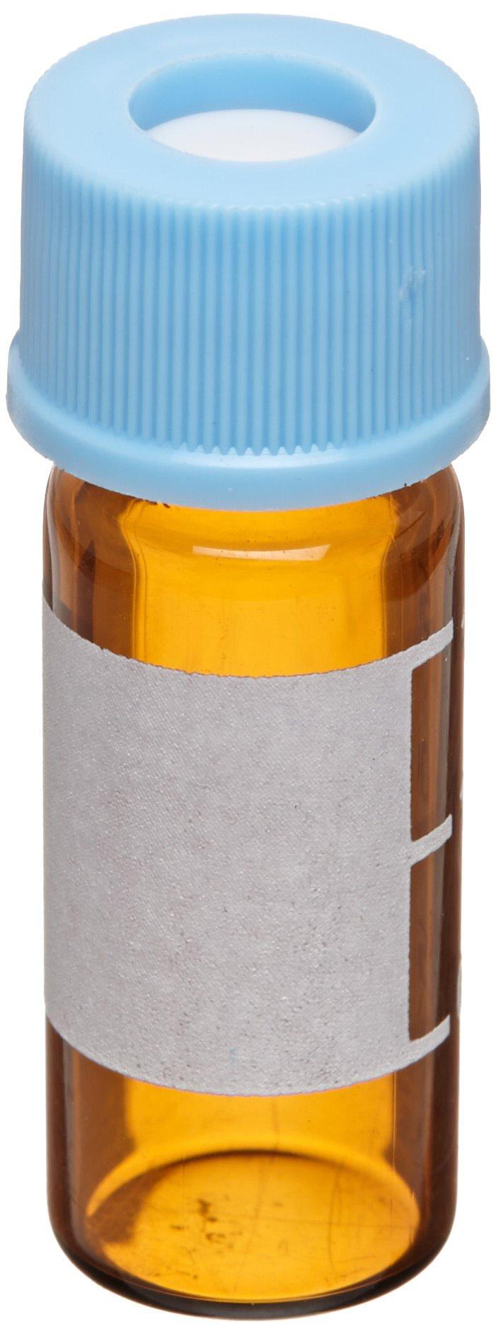 National Scientific Target 10-425 Assembled Vial Kit, Amber, 2ml Capacity (Pack of 100)