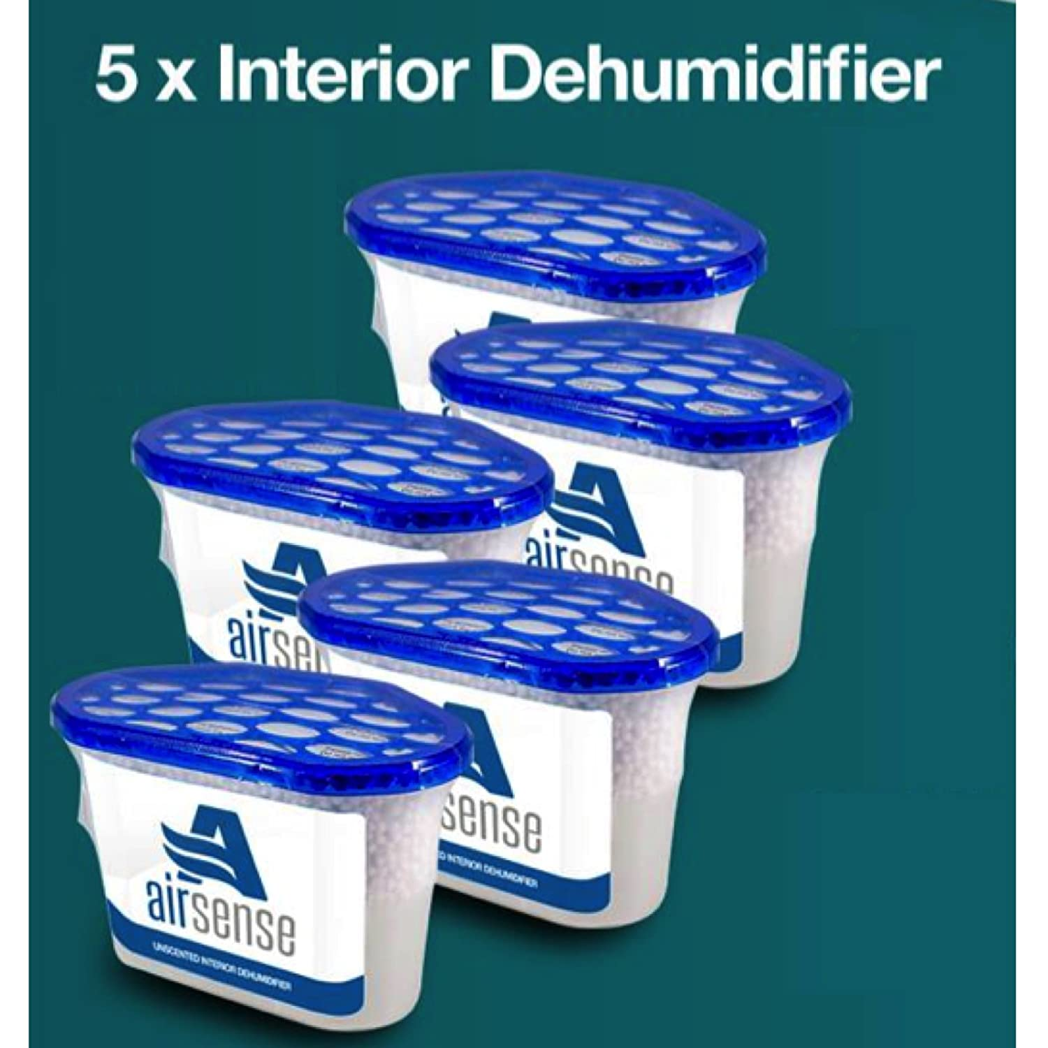 Eueasy Dehumidifier, 500 ml, Pack of 5 Dehumidifiers, Moisture Absorber, Damp, Mould Mildew, Condensation Airsense