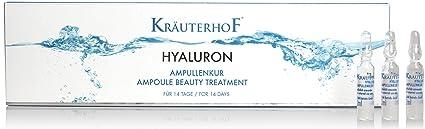 Ácido hialurónico ampollas Kur hierbas Hofmeister 14 días Intensive Humedad Alimentación con Silicio, magnesio,