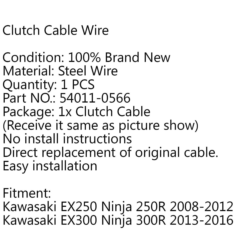 Areyourshop Cable de embrague de repuesto para EX250 Ninja 250R 08-12 EX300 300R 13-16