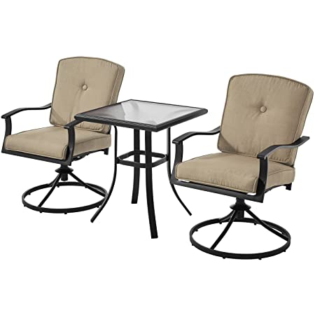 Mainstays Belden Park 3-Piece Bistro Set Tan