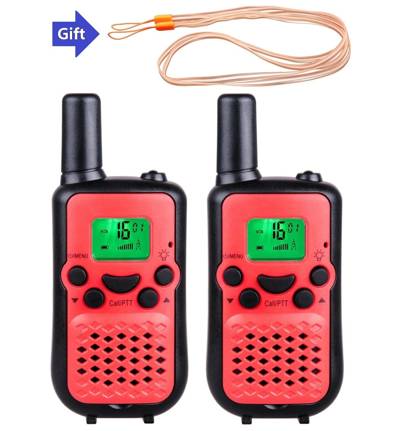 MeMo Toys Walkie Talkies Two Way Radios for Kids Wireless Interphone 22 Channel 2 Way Radio up to 3 Miles Handheld (Red1)