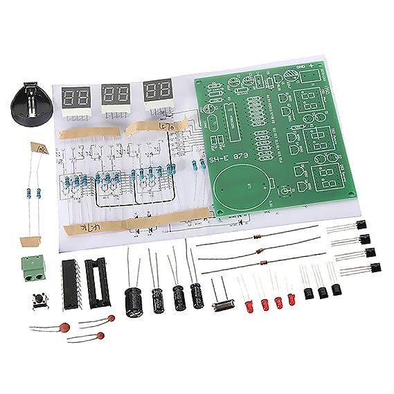 MagiDeal DIY Kit Reloj Digital LED Tarjeta circuitos Integrados 6 dígitos: Amazon.es: Electrónica