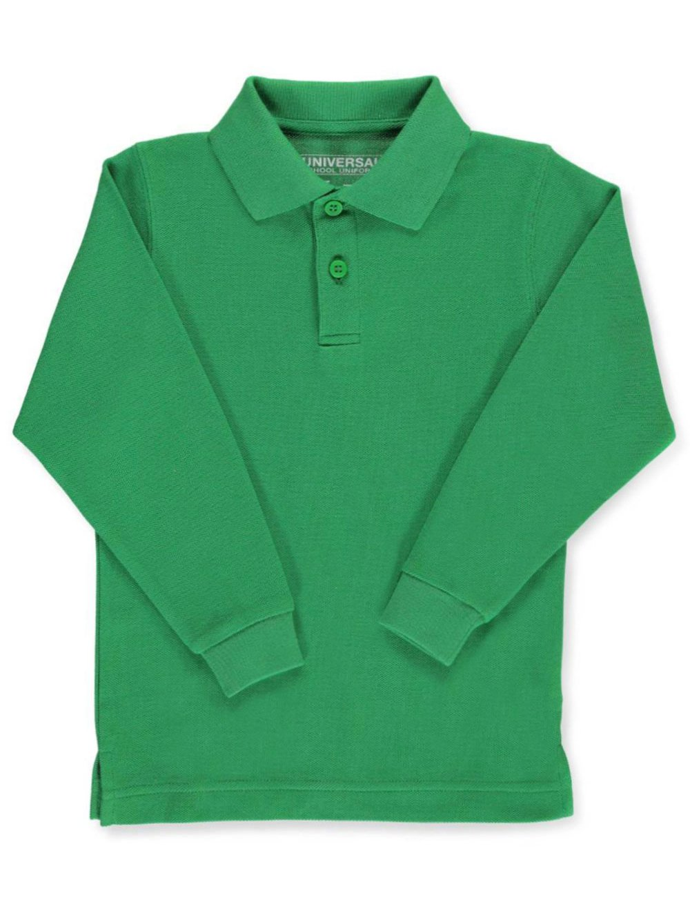 Universal Unisex L/S Pique Polo - Kelly Green, 14
