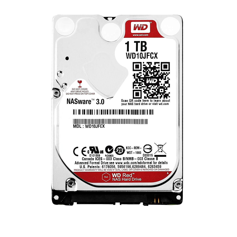WD Red - Disco Duro para Dispositivos NAS portátiles de 1 TB (Intellipower, SATA a 6 GB/s, 16 MB de caché, 2,5