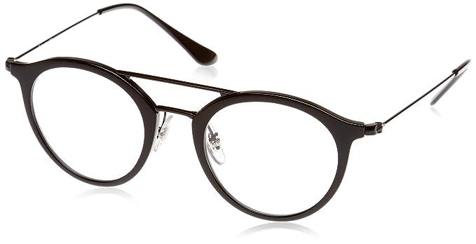 c66c8ba992a Amazon.com  Ray-Ban Unisex RX7097 Eyeglasses Black 47mm  Clothing