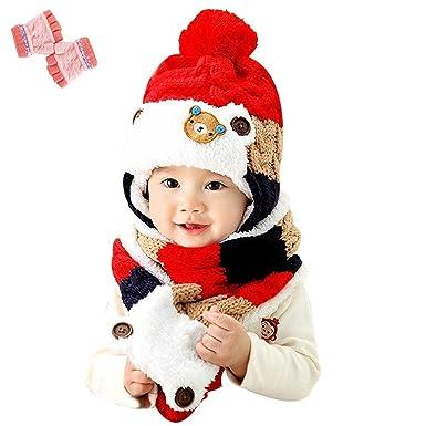 01eab7f4e4bdb7 【Yusongirl】赤ちゃん 幼児 子供 服 ギフト 帽子 キャップ かわいい ボンボン 耳あて 耳カバー