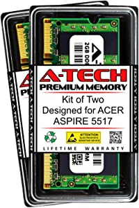 A-Tech 4GB (2 x 2GB) RAM for ACER Aspire 5517 | DDR2 667MHz SODIMM PC2-5300 200-Pin Non-ECC Memory Upgrade Kit