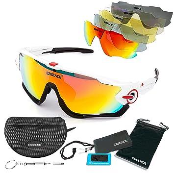 Essence polarizada deportes gafas de sol/ciclismo para hombres mujeres- deporte al aire libre