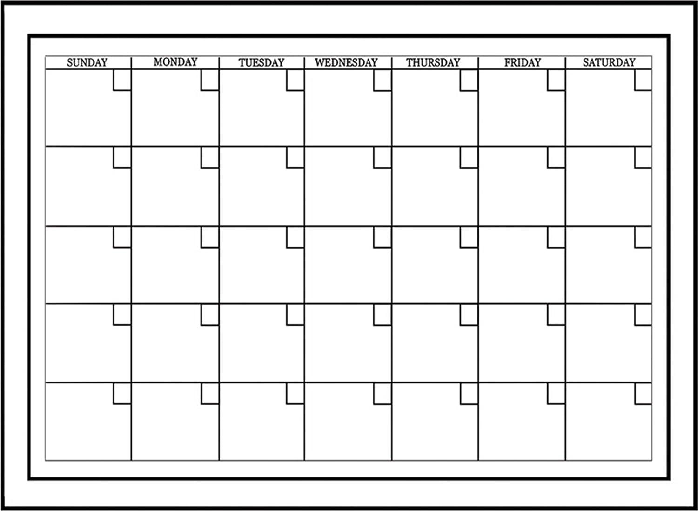 Medium White Monthly Calendar