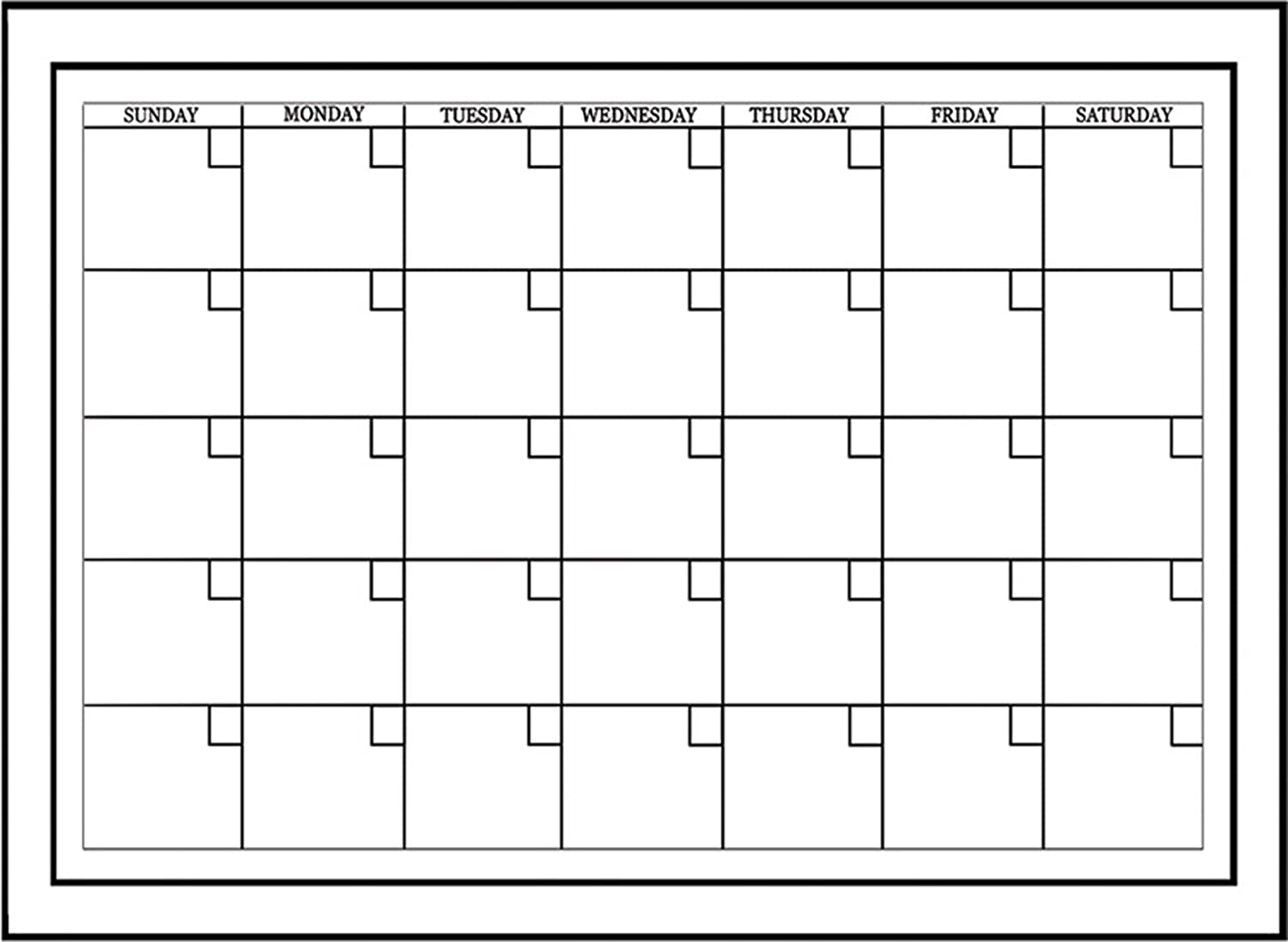 Brewster Wall Pops WPE94575 Peel Stick White Board with Marker – Blank Monthly Calendar