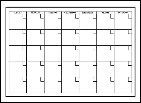 Wallpops Self Adhesive DryErase Monthly Calendar White AmazonCo